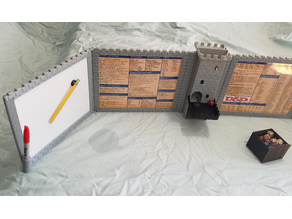 DM Screen with Dice Tower