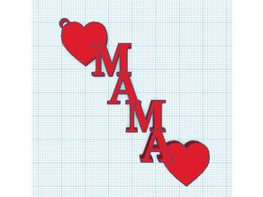 MAMA_Hearts Keychain by Techie_Baksh