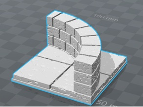 OpenForge 2.0 Cut Stone Diagonal,Curved and Corridor Half Walls