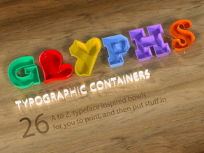 Typographic glyphs container collection