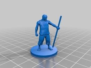 28mm Monk Miniature w/Heavy Staff