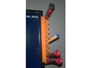 Monitor pen holder