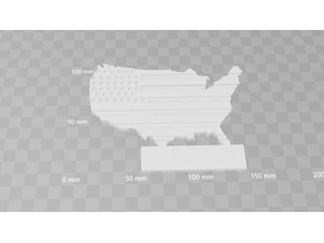 Customisable USA Wall Plaque With Embossed American Flag