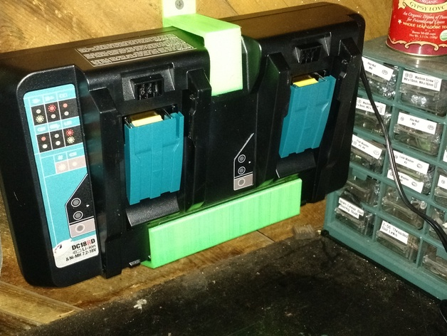Makita Double Charger Hanger Dc18rd By Syakely Thingiverse