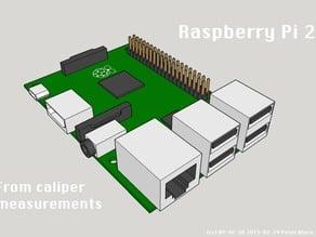 Raspberry Pi 2 (from caliper measurements)