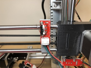 X-axis Right Side Endstop Holder for Prusa i3 (Remix)