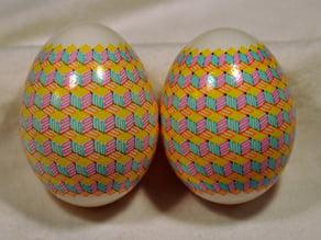 Four color, geometric Eggbot plot