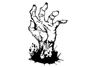 Cool low-poly ZOMBIE hand