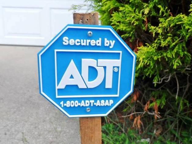 Fake Security Alarm Service Sign By Ukcat Thingiverse