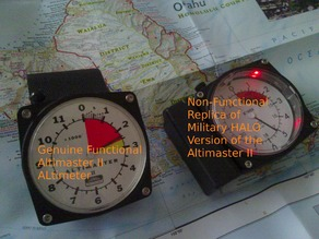 Altimaster II Skydiving Altimeter Night HALO Parts Adapter