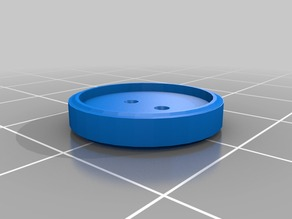 Button replacement for coat - beveled edges