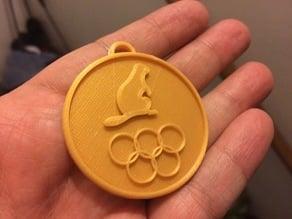 Beaver Olympic Medal