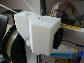 PLA printing: PP3DP Up plus 2 extruder stepper motor cooler