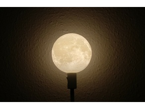 Glowing Moon IKEA Lamp Stand
