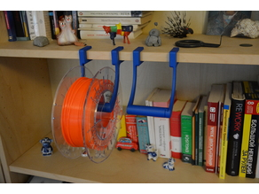 Shelf Spool Holder (modular, customizable, parametric)