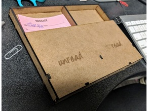 Message memo box for desk - laser cut