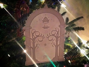 Gates of Moria Christmas tree ornament