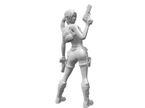 Lara Croft from back