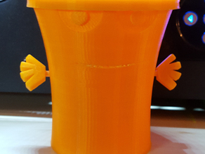Master Shake Inspired Character Cup with removable arms / hat (lid) - from Aqua Teen Hunger Force