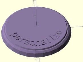 Customizable Miniature Pedestal w/Text