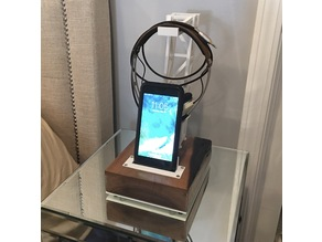 3D Printed and Walnut Headphone Stand and Cellphone Charger