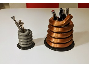 Pen or Tool Stand / Spring Design