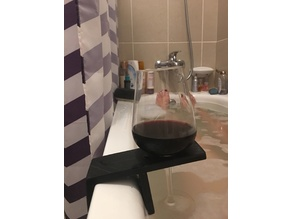 Rob's Bathtub Wine Holder (parametric)