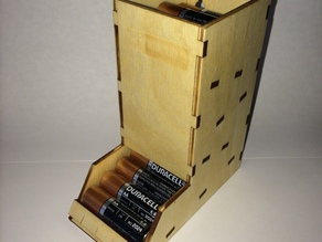 Laser Cut AA Battery Holder