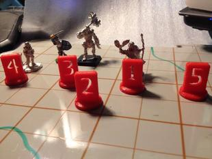 Numbered Roleplaying or Wargaming Pawns