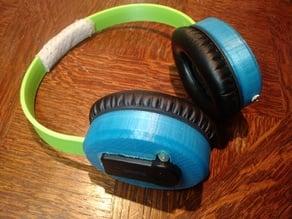 Bluetooth version of 3d printed headphone