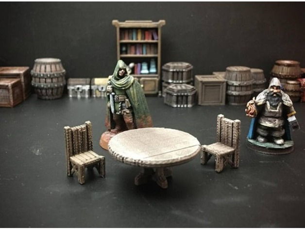 Delving Decor Tavern Table 28mm Heroic Scale By