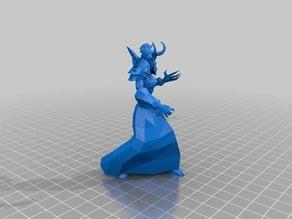 world of warcraft undead female warlock felheart channeled casting