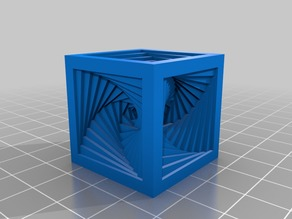 Spiral Cube (remeshed)
