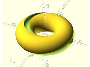 Customizable Bearing Captured in Möbius Cut