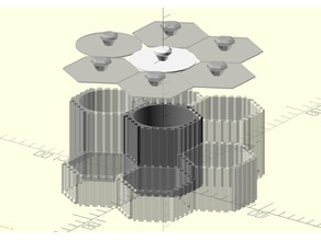 Parametric hexa container