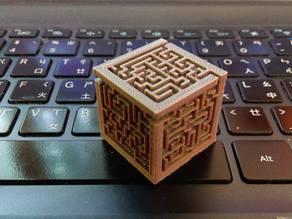 Maze cube generator, pure OpenSCAD