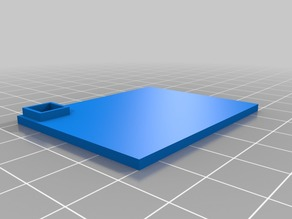 50x40mm Wargame Base with slot for 5mm D6 die.