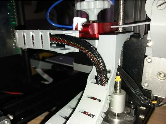 picture relating to Ender 3 Printable Upgrades identified as Ender 3 Bullseye Cable chain update through JazekerXX - Thingiverse