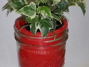 Mason Jar Self-Watering Planter