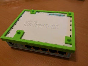 Raspberry PI stack mount for MikroTiK RouterBOARD