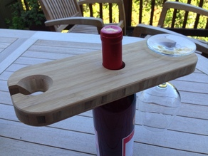 CNC Wine Bottle and Glass Holder