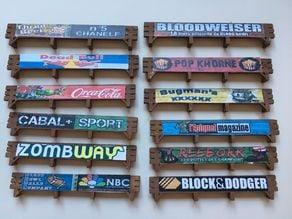 Wood Advertising / Sponsorship Boards Blood Bowl Dreadball Speedball Dungeon Ball