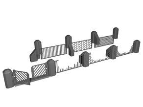 Wargame Terrain: Fence Set