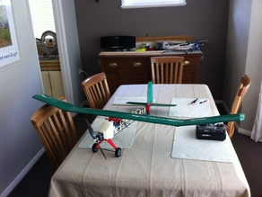 Full ABS RC plane with brushless electric motor