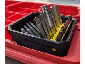 Bit Index for Milwaukee Packout Low Profile Organizers