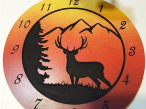 "12"" Deer Clock for MPCNC"