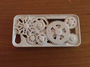 (thinner) iPhone 5 gear case with Geneva mechanism
