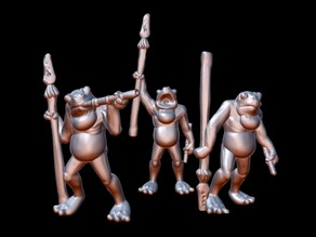 Krogg Swamp Stalkers (15mm scale)