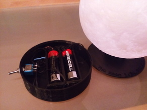 AA Battery base for glowing moon