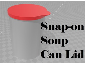 Snap-on Soup Can Lid